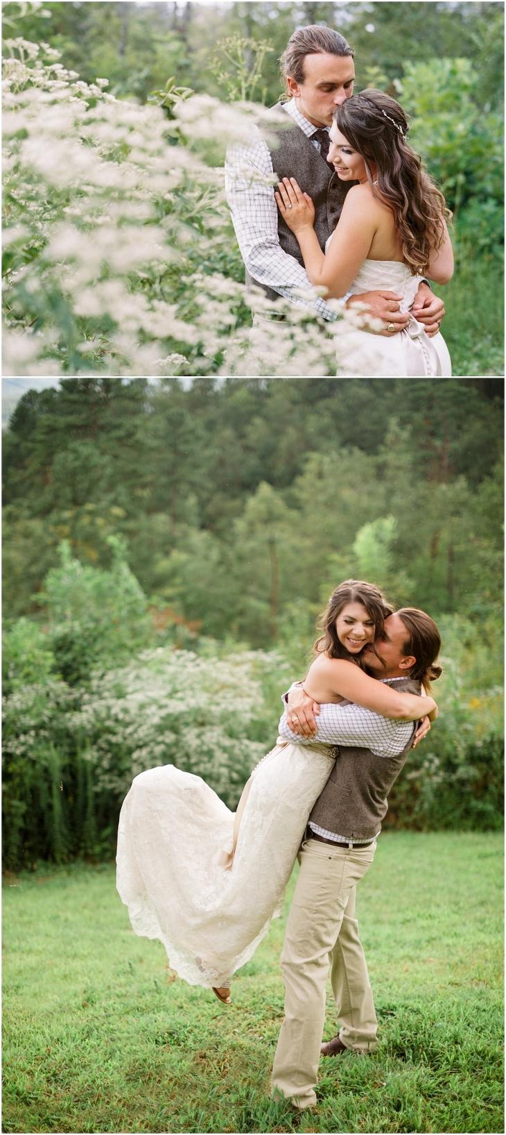 smoky mountain wedding photos at Gatlinburg Mansion