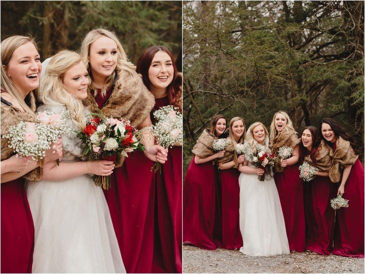 cades cove winter wedding photos