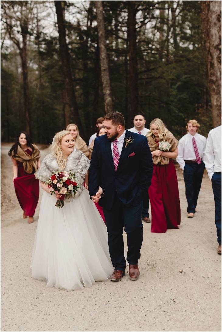 cades cove winter wedding pictures
