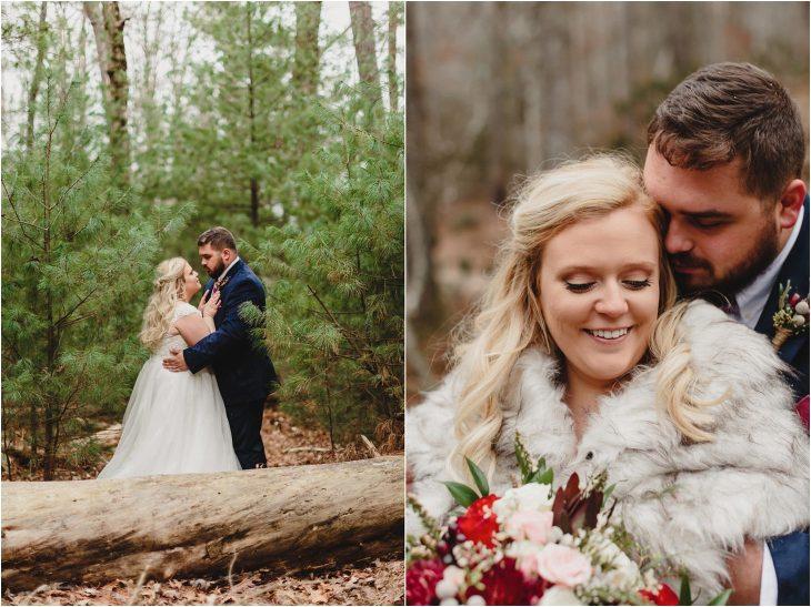 great smoky mountains winter wedding photos