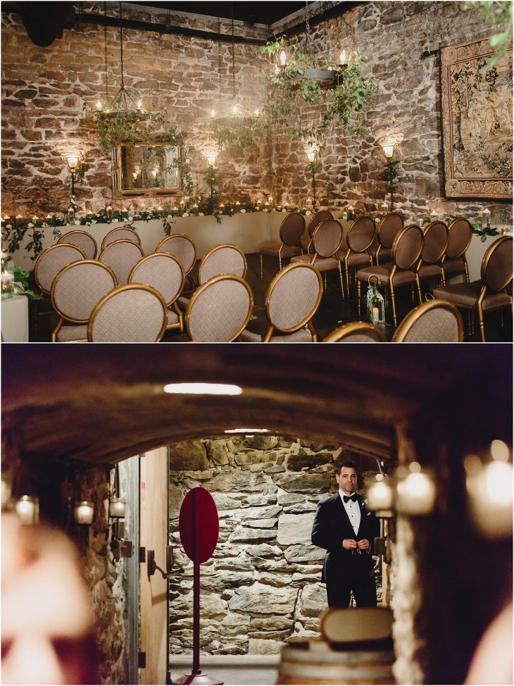 Wine cellar wedding biltmore