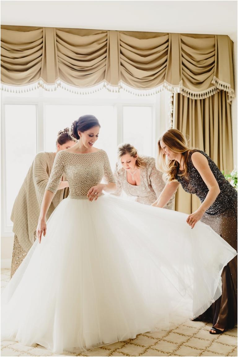 Asheville bride at Biltmore