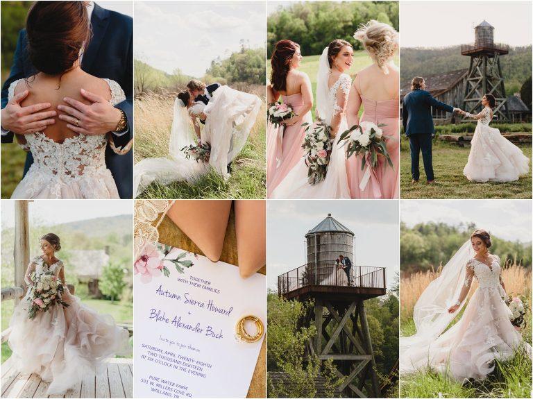 Smoky mountain wedding at pure water farm
