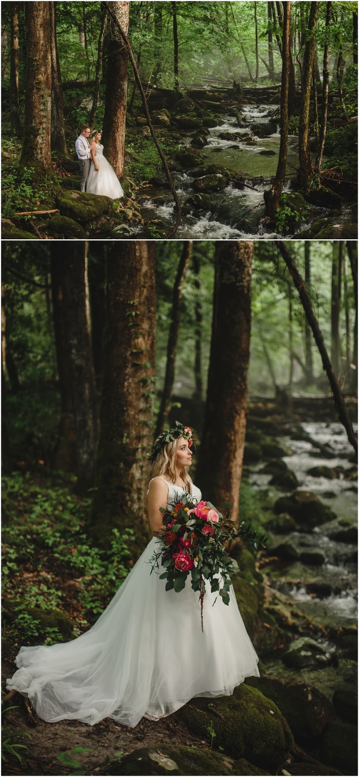 Smoky mountains wedding photography