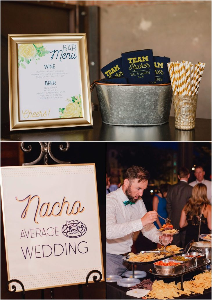 Wedding nacho bar