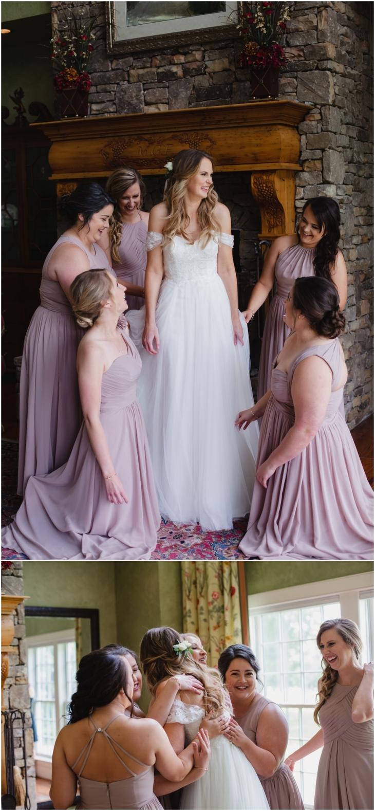 bridesmaids at marblegate farm