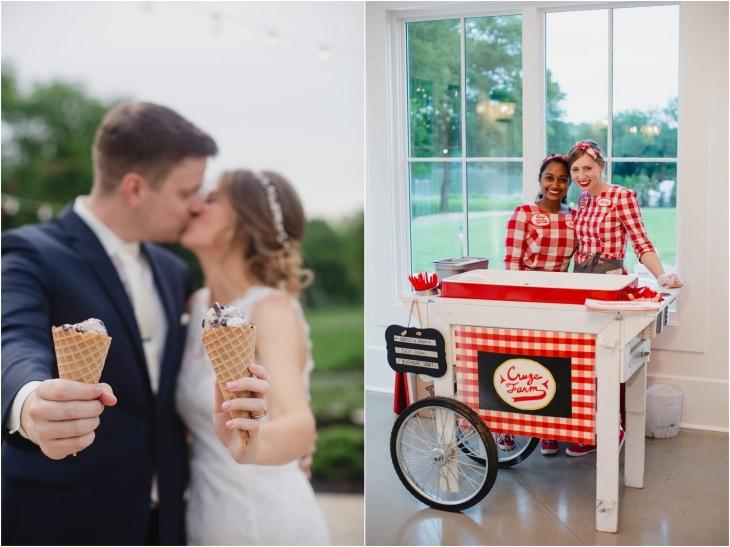 cruze farm wedding ice cream