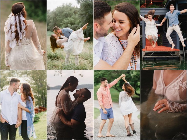 Gallaher Bend Engagement Images