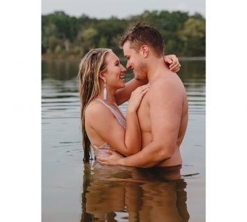 marblegate farm lake engagement pictures in knoxville