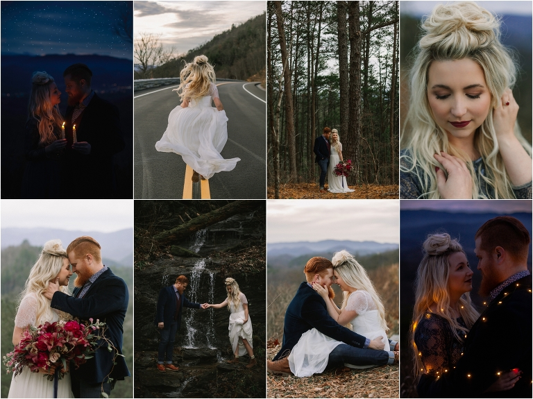 Foothills Parkway wedding in the Great Smoky Mountains