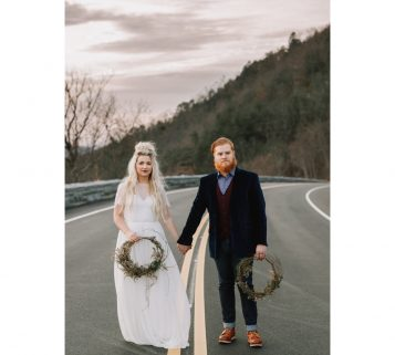foothills parkway wedding at the missing link in the great smoky mountains national park