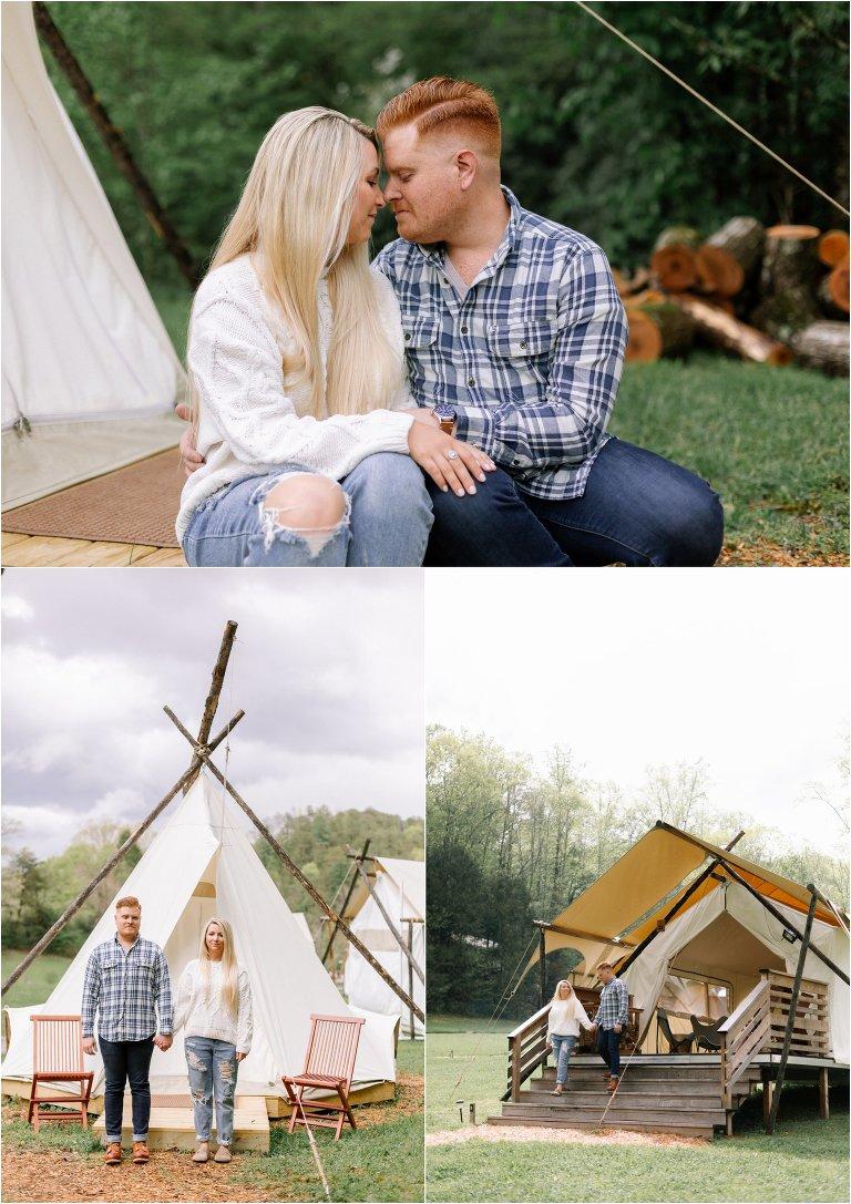 Under Canvas Wedding Photos