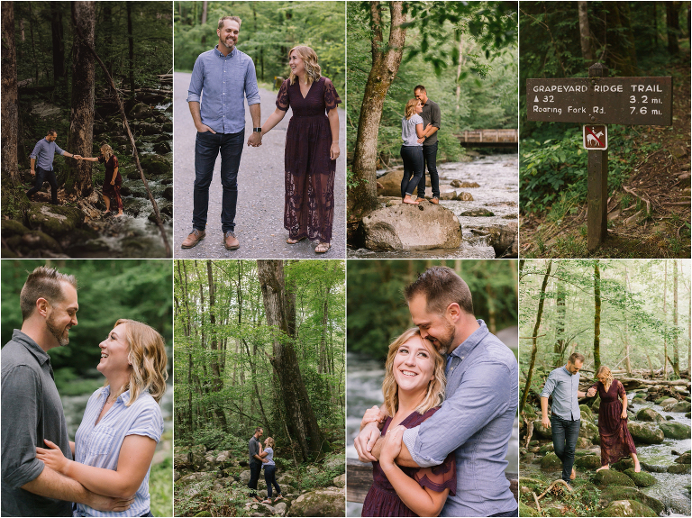 Greenbrier Smoky Mountain Engagement Photos