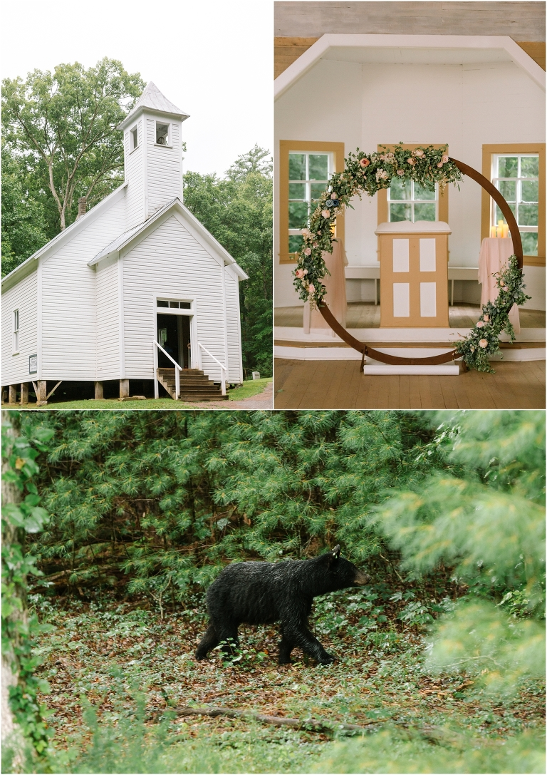 Cades Cove Church Wedding