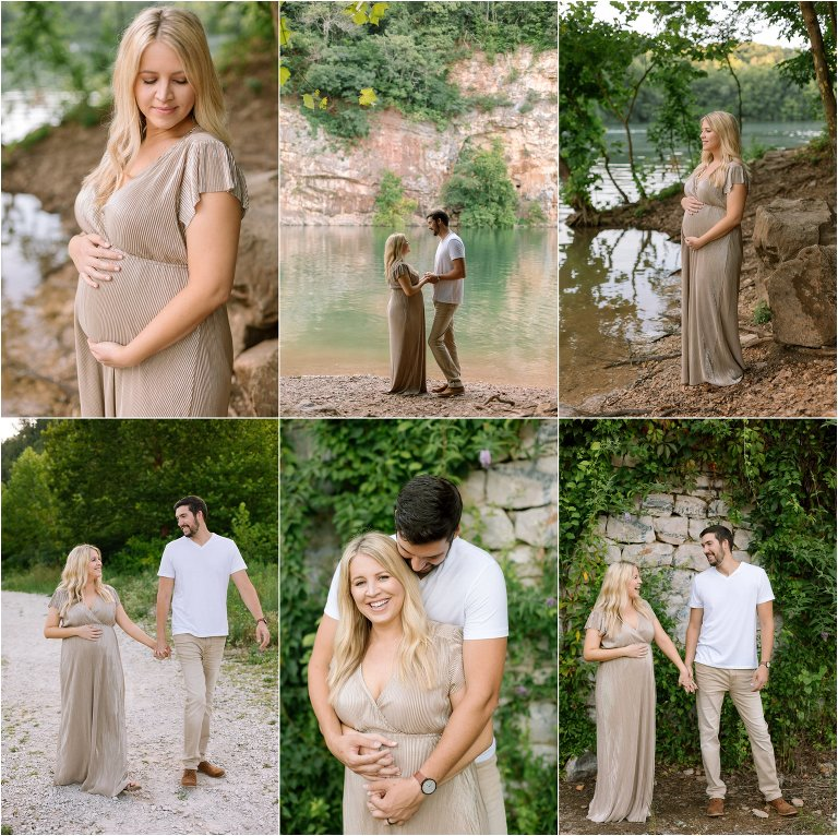Meads Quarry Maternity Photos Knoxville