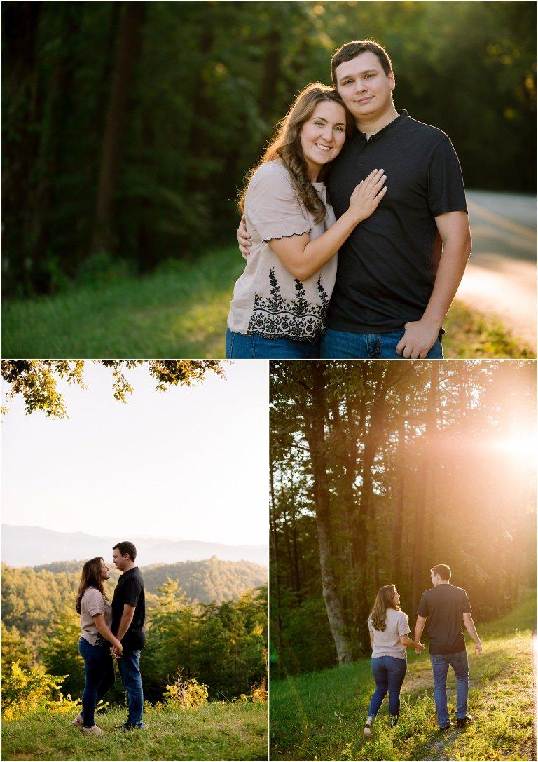 smoky mountain engagement photos