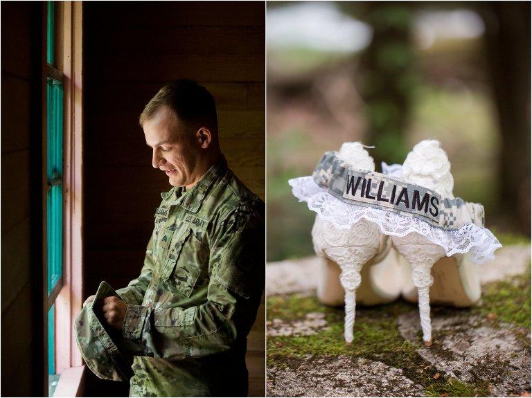 military smoky mountain wedding