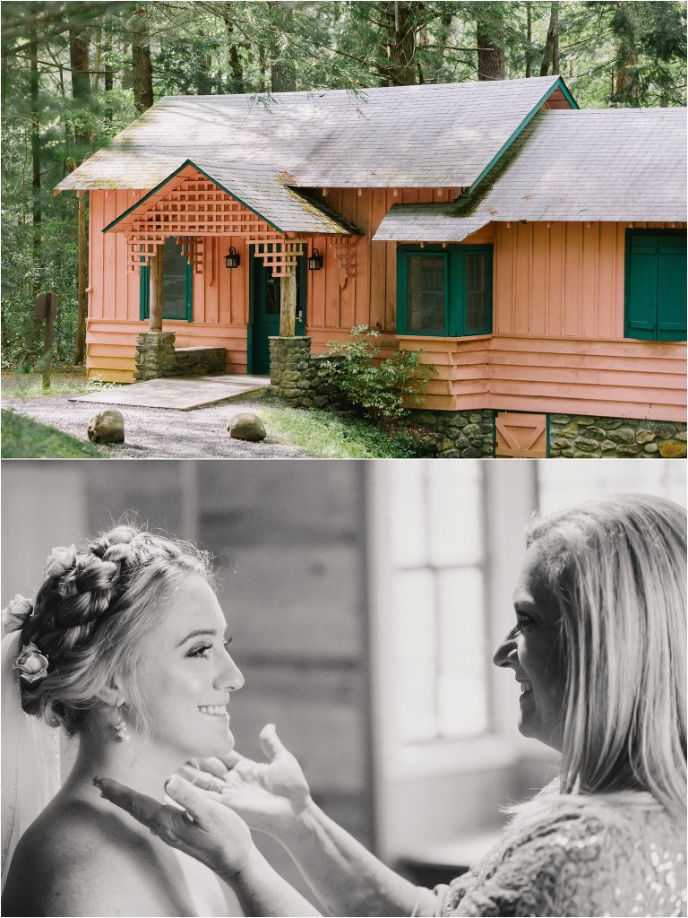 spence cabin mountain wedding