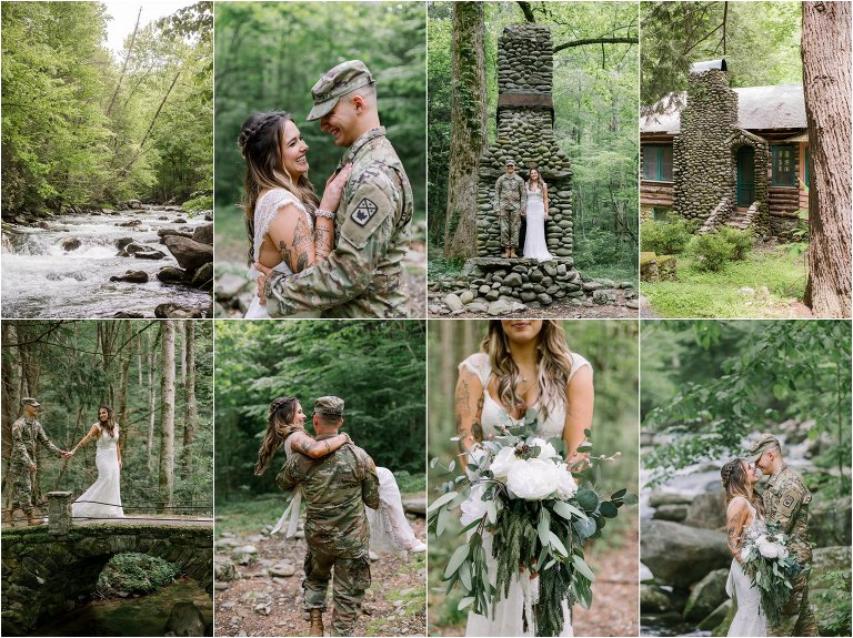 military gatlinburg smoky Mtn wedding