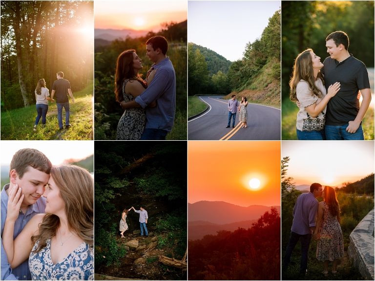 foothills parkway engagement pictures