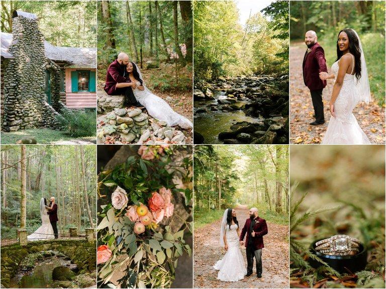 spence cabin smoky mountain wedding photographers