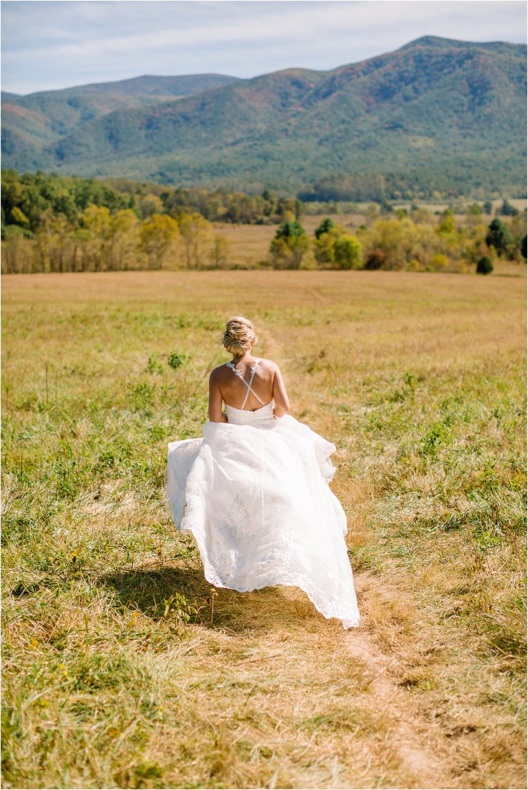 smoky mountain bride