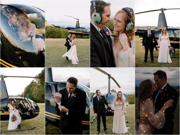 scenic helictoper wedding gatlinburg