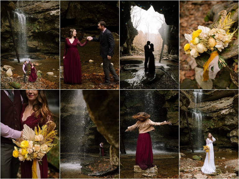 lost creek falls & cave wedding