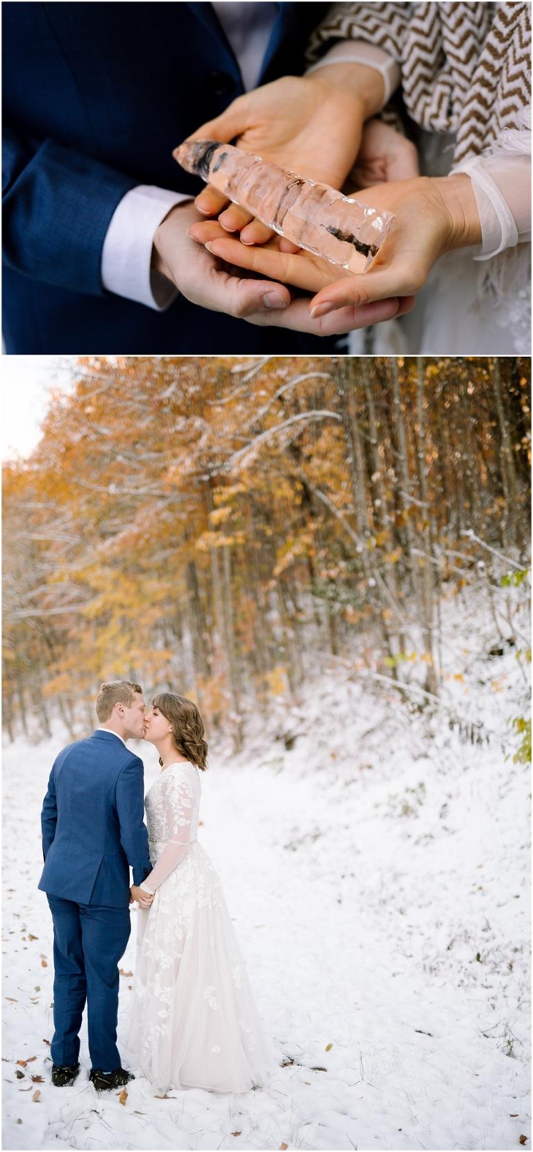 Snow Wedding in the Smoky Mountains