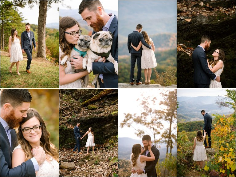 foothills parkway engagement photos smoky mountains