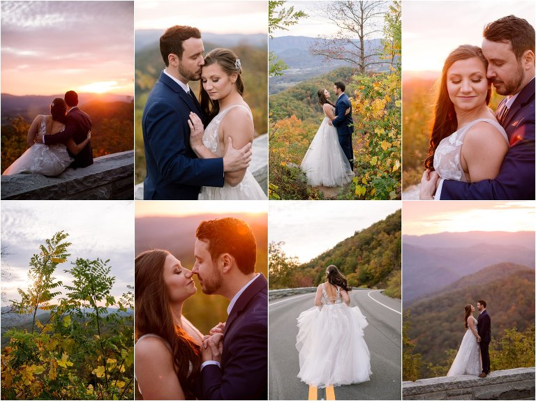 intimate smoky mountain wedding photos foothills parkway