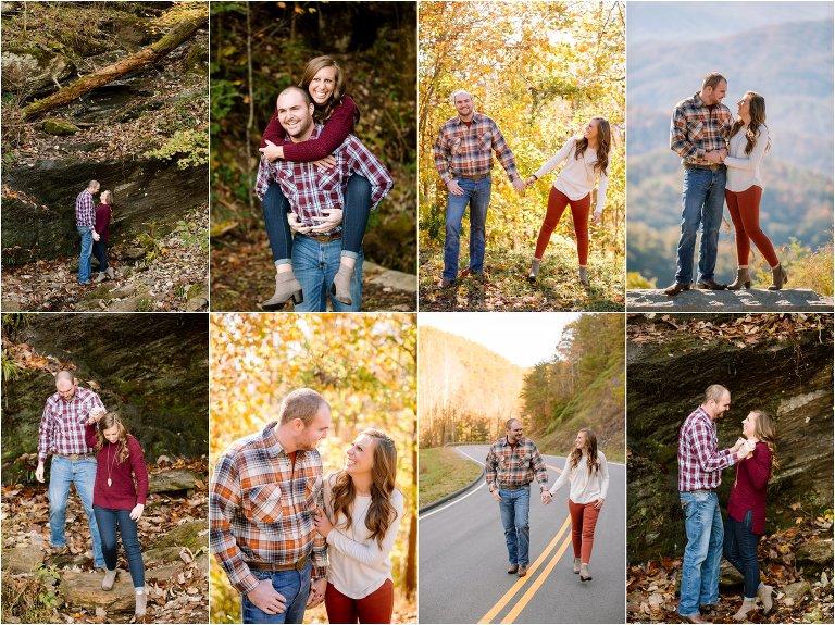 smoky mountain engagement photo ideas