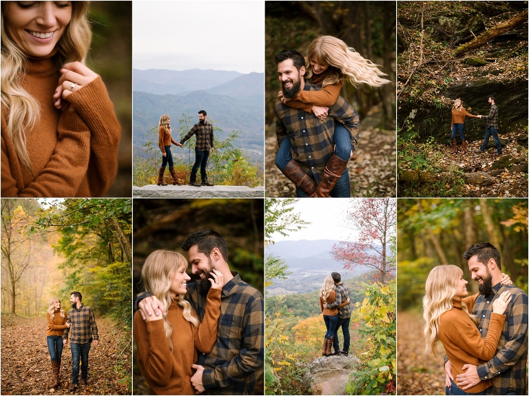 Smoky mountain engagement foothills parkway