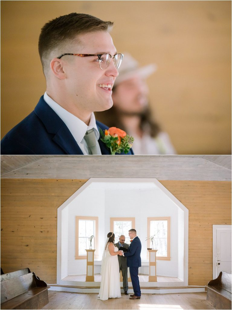 cades cove chapel wedding