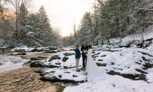 smoky mountain winter elopement